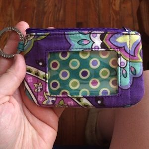 Vera Bradley ID/Change Purse Keychain